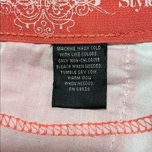 Style & Co Pants - Pink cotton mix capris